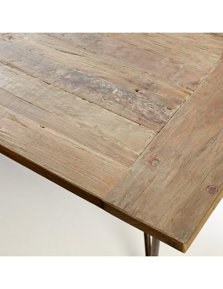 Mesa comedor madera y metal
