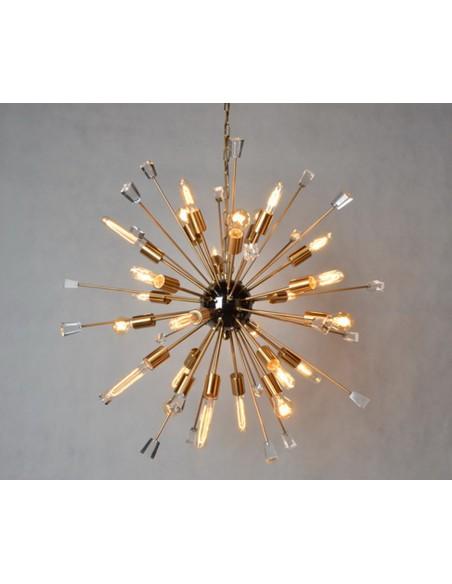 Lámpara dorado envejecido y cristal Foto: WEB NUEVALAMPARAS WEB RETOCADASMD3324-24gd