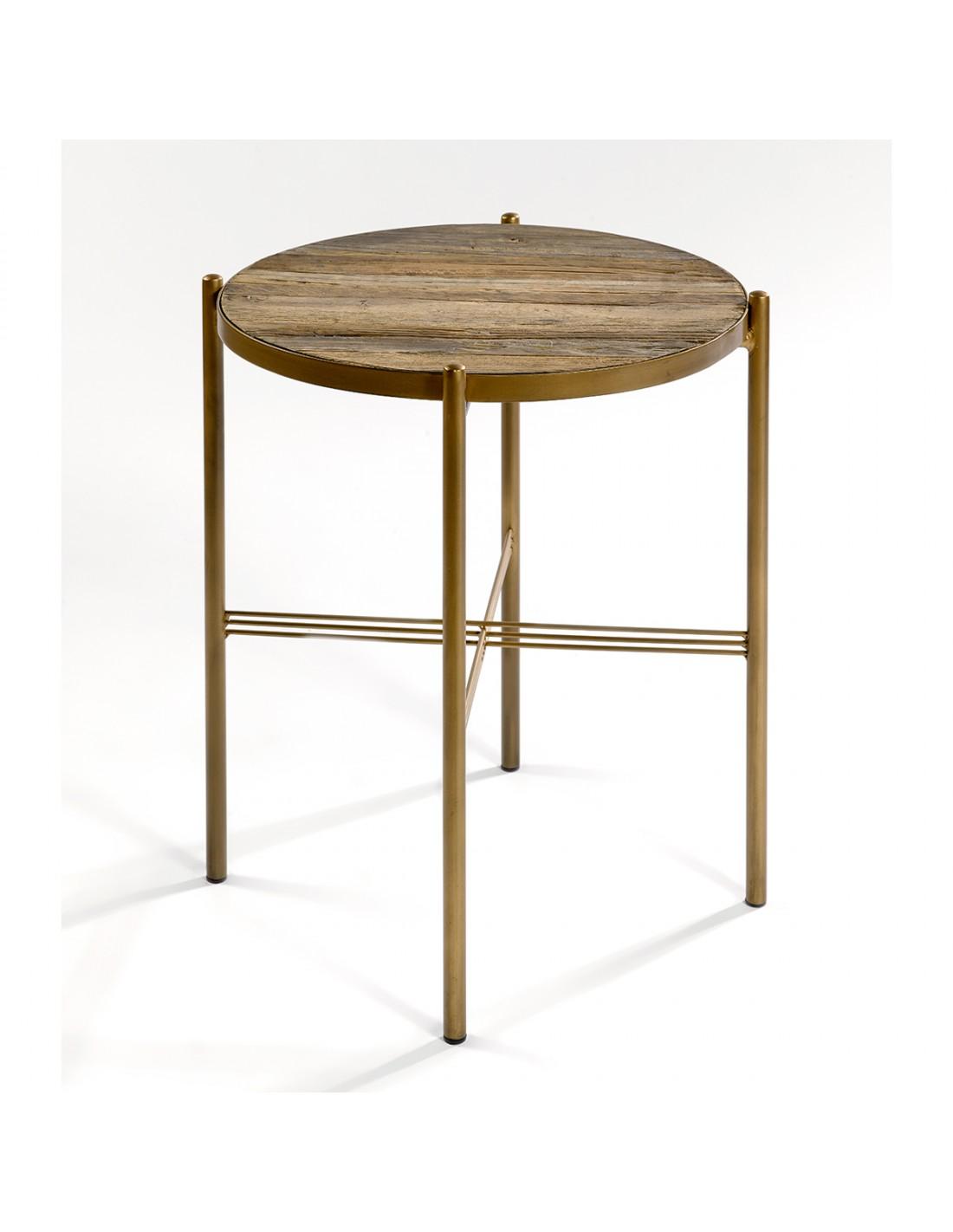 Table Dorée D'orme Et Auxilaire Bois vm8wnN0
