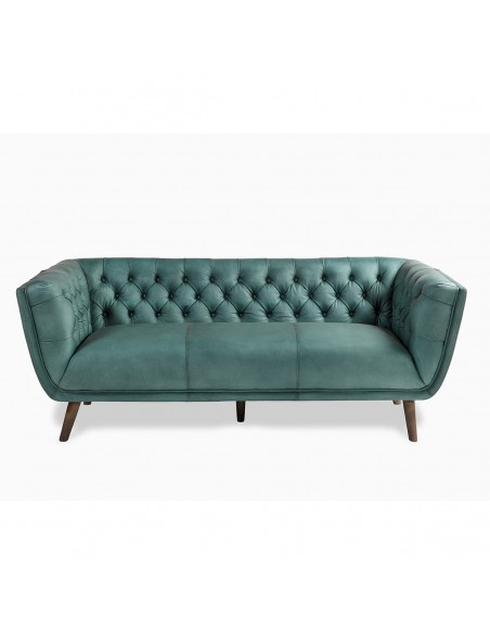 Sofa piel capitone Foto: BENJI SOFA-PIEL-CAPITONE
