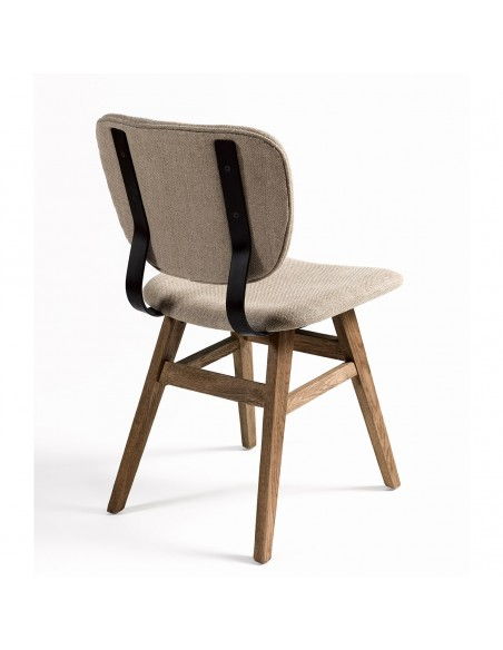 Silla lino roble y metal Foto: silla-lino-roble-y-metal-9940OAK (2)-min