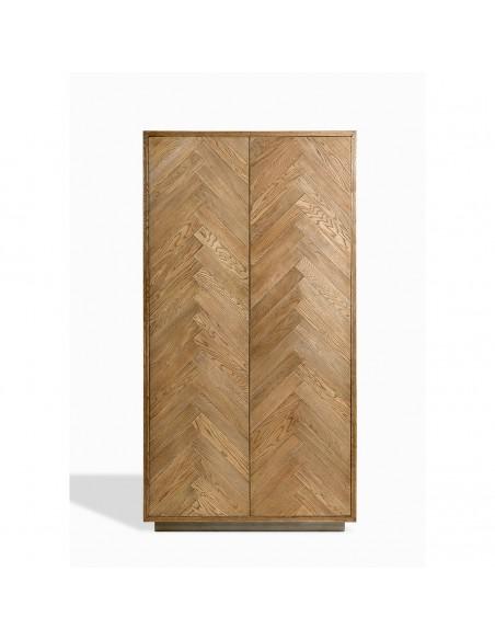 ARMARIO ROBLE NATURAL (100x50x190) Foto: fd23481-armario-de-madera-de-roble