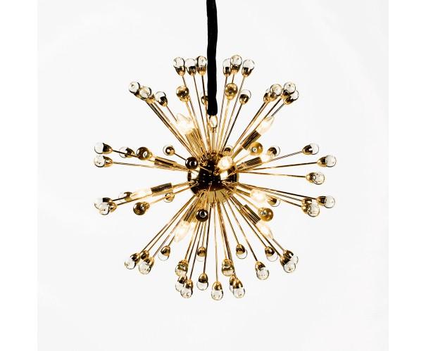 Lámpara metal dorado y acrílico