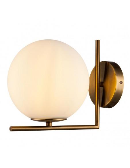 Lámpara aplique pared metal y cristal Foto: BONA