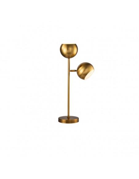 Lámpara de mesa de acero dorado envejecido Foto: SUSA