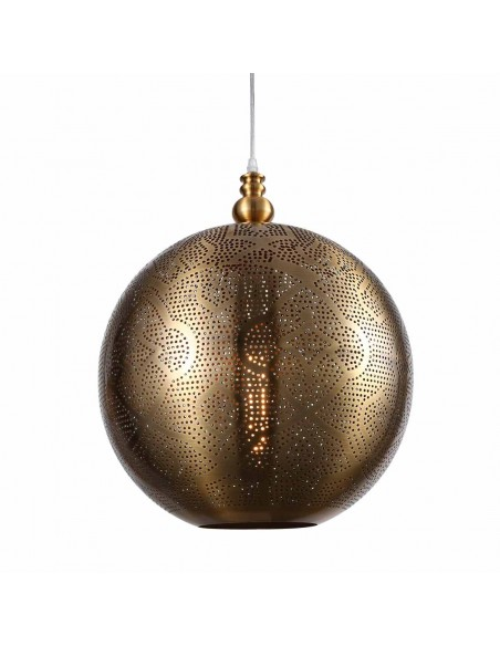 Lámpara colgante de acero dorado envejecido Foto: ADELFA