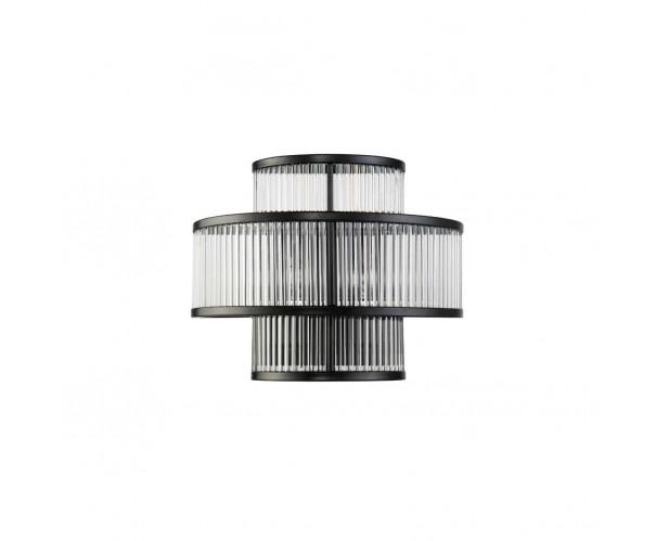 Aplique de pared, metal negro y cristal Foto: OLIVIA