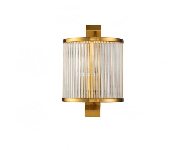Aplique de pared dorado envejecido y cristal Foto: DAN OK