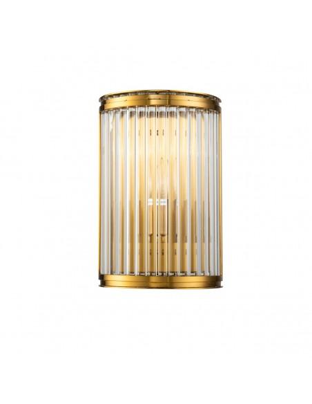 Aplique pared dorado envejecido y cristal Foto: BRESA