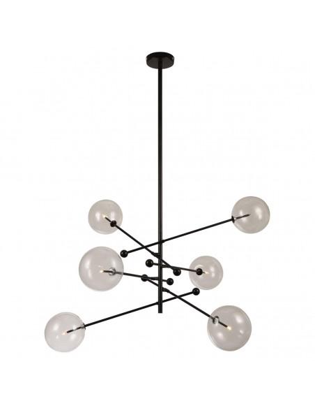 Lámpara metal negro y cristal Foto: NINA-6B