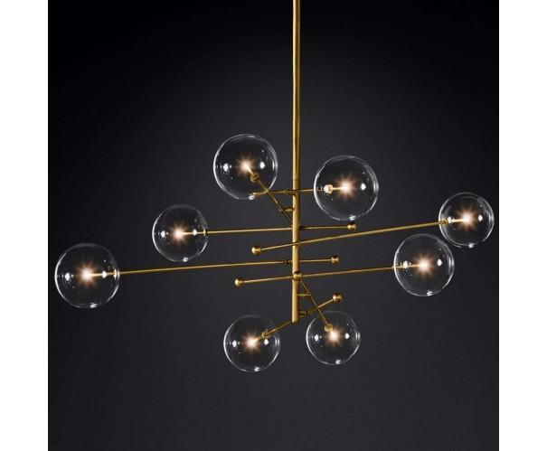 Lámparacolgante metal dorado y cristal Foto: NINA-8