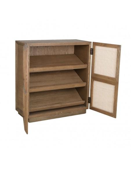 Aparador zapatero de madera natural y puerta ciega Foto: MARE-A (3)