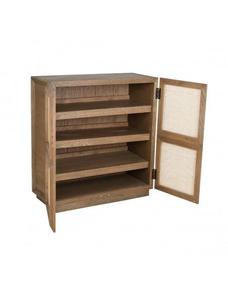 Aparador zapatero de madera natural y puerta ciega Foto: MARE-A (4)