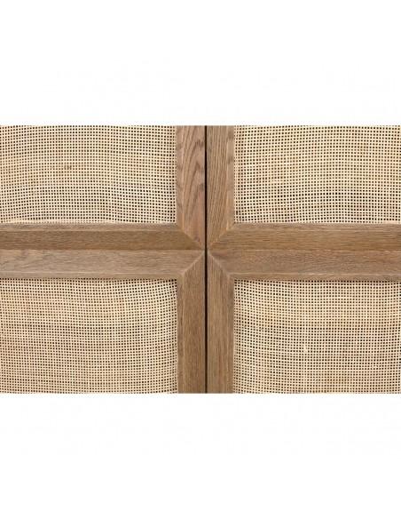 Aparador zapatero de madera natural y puerta ciega Foto: MARE-A (2)